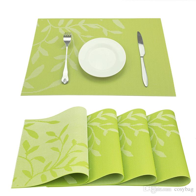 Dinner Placemat Pvc Dining Table Mat Dise Bowl Mat Waterproof Table Decor Cloth Slip-Resistant Placemats 0188
