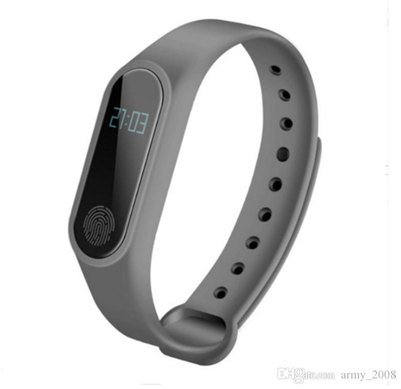 M2 rastreador de ejercicios venda de reloj del monitor de actividad Impermeable Rastreador inteligente pulsera podómetro llamada recordarle Salud pulsera con pantalla OLED