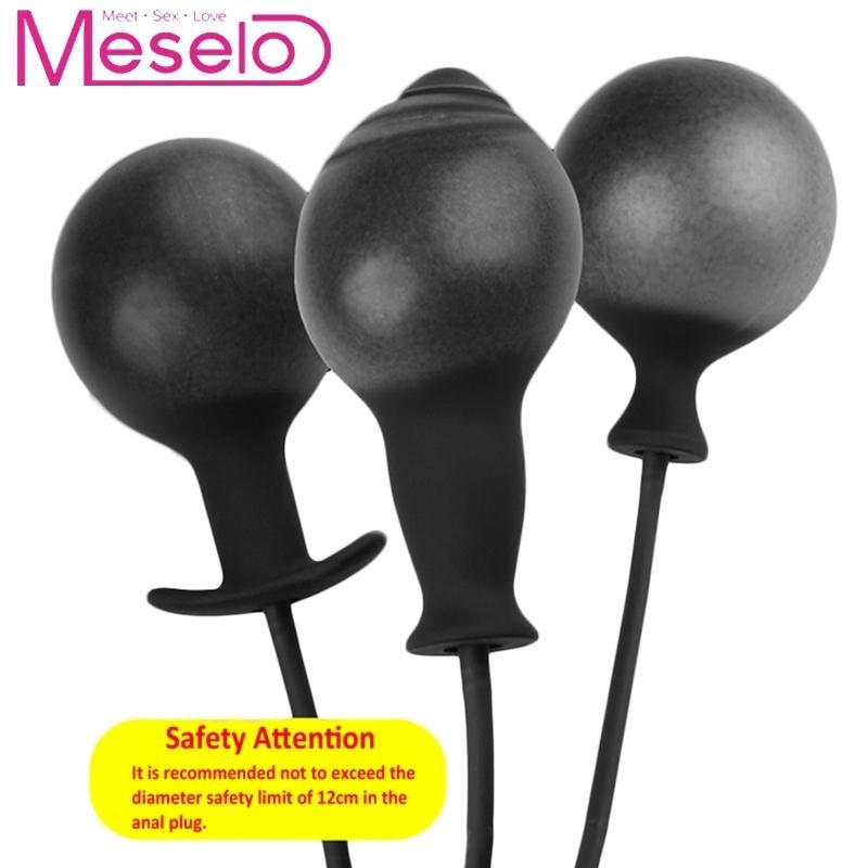 Meselo 2 Типа Надувные Анальный Плагин Мастурбатор Игрушки Для Взрослых Для Женщин Анальная Пробка Надувные Дилдо Анальный Расширитель Секс-Игрушки Для Мужчин D18111502