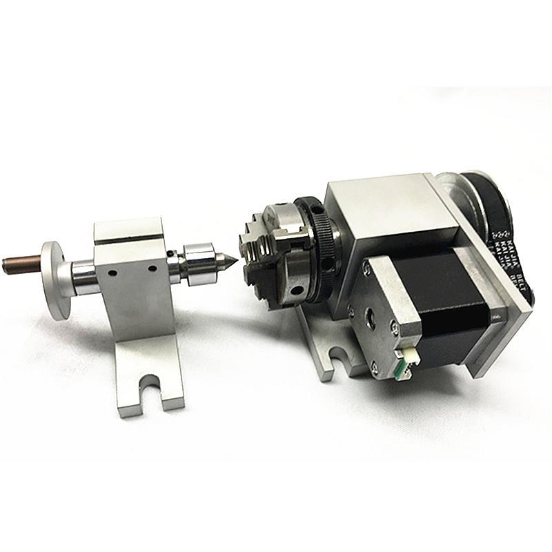 Contrapunto CNC y Eje rotativo de 4º eje con mandril 50 mm