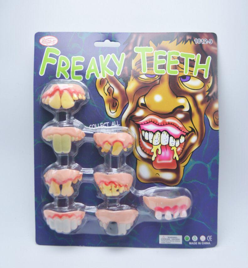 20 takım / grup Serin Cadılar Bayramı Partisi Cosplay Zombies Diş April Şaka Günü Freaky Diş Sahne Çocuk Parti Komik Oyuncak Malzemeleri