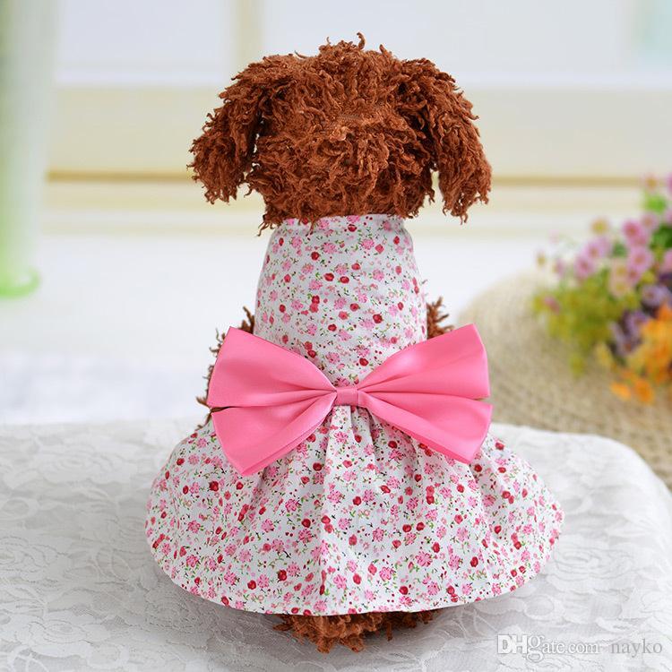 Compre 2018 Hot Sales Tutu Dress Pink Pet Dog Bowknot Princesa Ropa ...