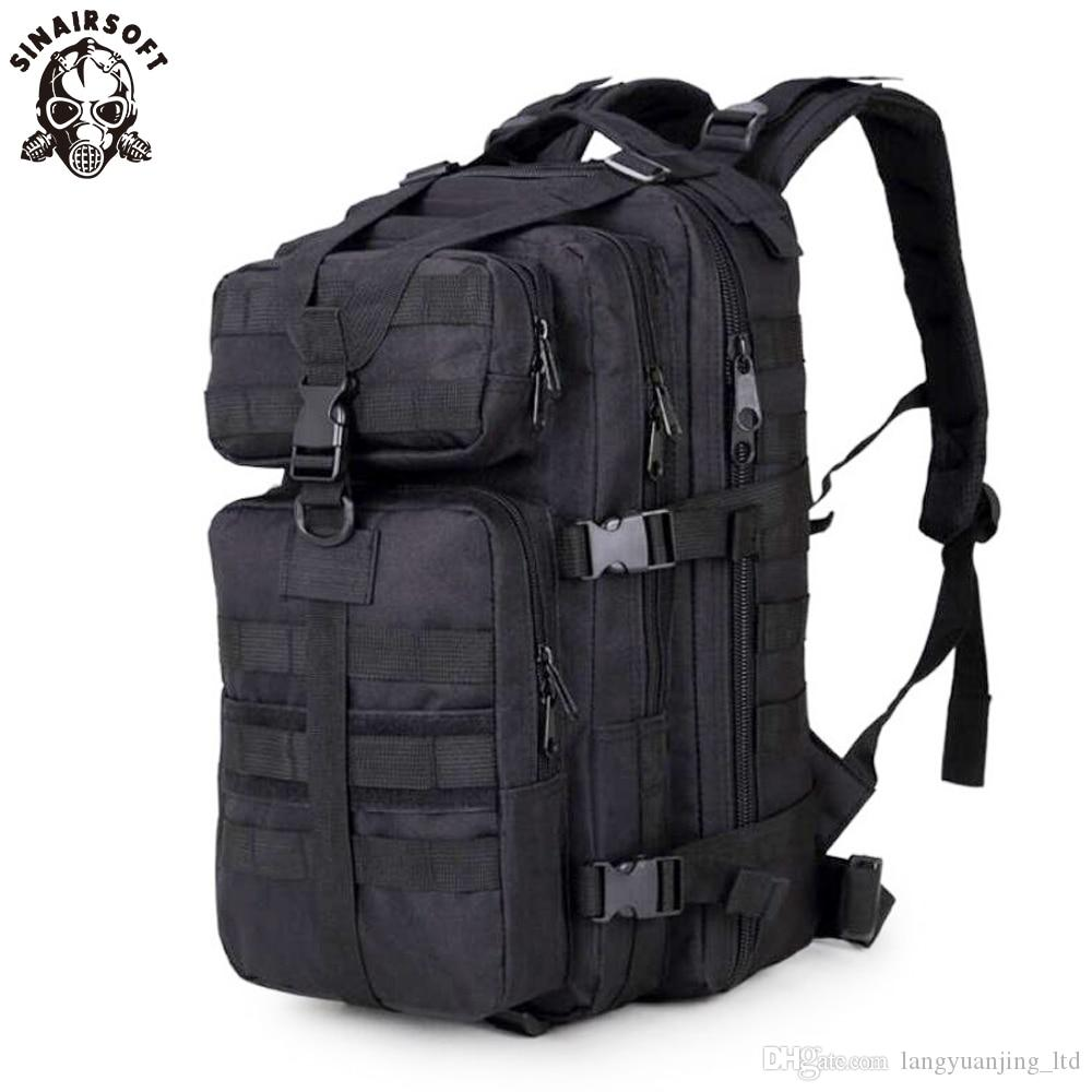 High Quality!Tactical 30L 3P Hunting Backpack 600D Nylon Camping Hiking Sport Travel laptop Rucksack sport trekking Multifunction Molle bag