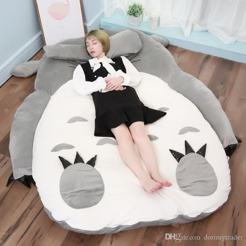 Cat Anime Sleeping Plush Totoro Bed X Bed Big Bag Mattress Tatami Japan 200cm Stuffed 150cm DY50464 Cwera