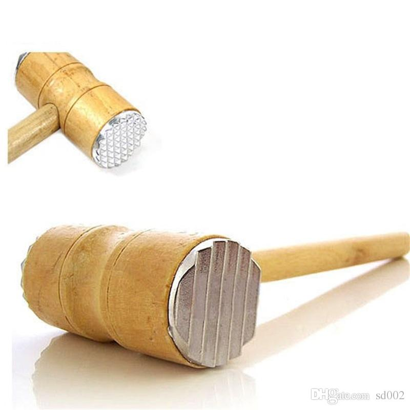 2021 Wooden Handle Meat Hammer Durable Meats Tenderizer Knuckle Pounders Kitchen Cooking Tool Accessories 3 58bd C R From Sd002 2 33 Dhgate Com