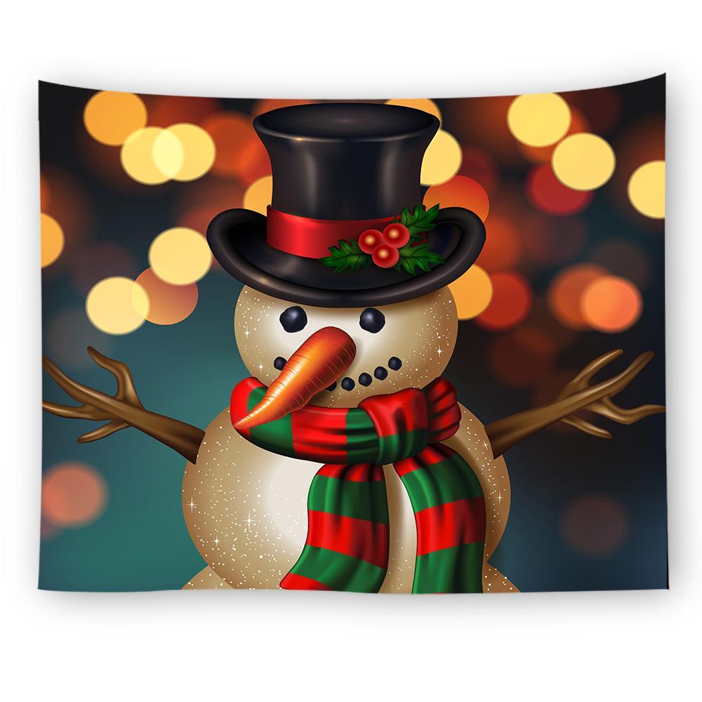 12 Styles Christmas Decoration Tapestry,130CM*150CM,Digital Printing Snowman Bedroom Living Room Decoration Beach Camping Blanket
