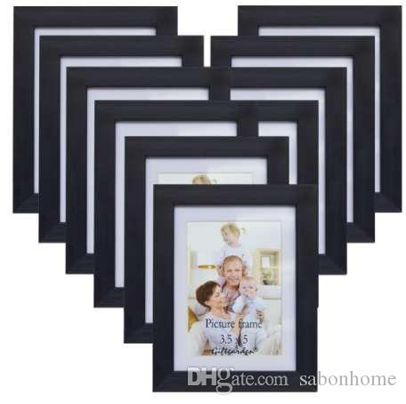 Giftgarden Wall Photo Frame Set Frame Picture Black Wall Home Accessories، Made to Display Photos 3.5x5، Set of 10