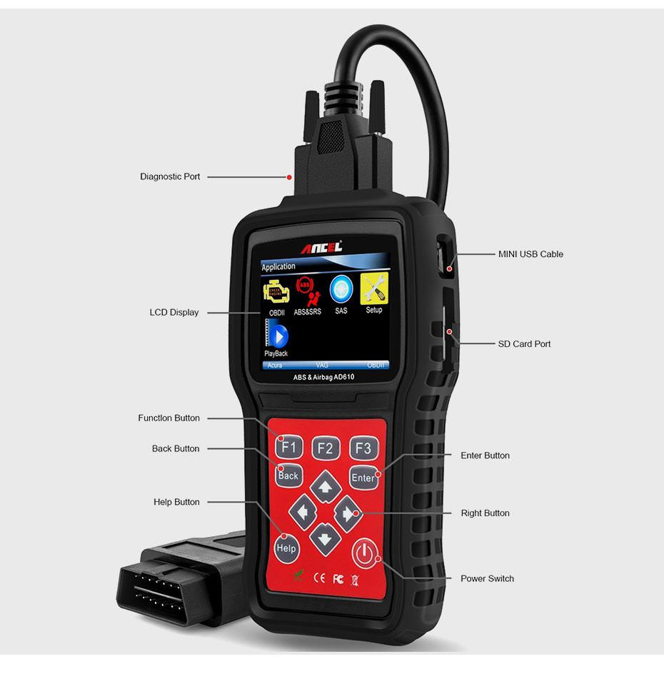 OBD2 OBD Automotive Scanner Diagnostic Tool Ancel AD610_10