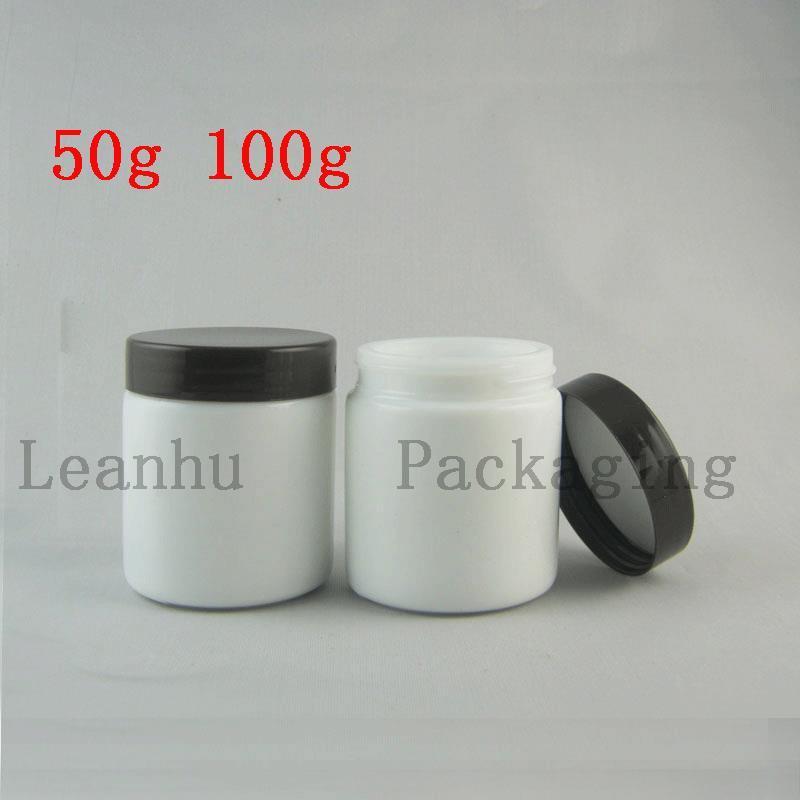 50g 100g White Glass Bottle For Facial Mask, Facial Cream, Grind Arenaceous Cream Container Cream Jars Cosmetic Packaging