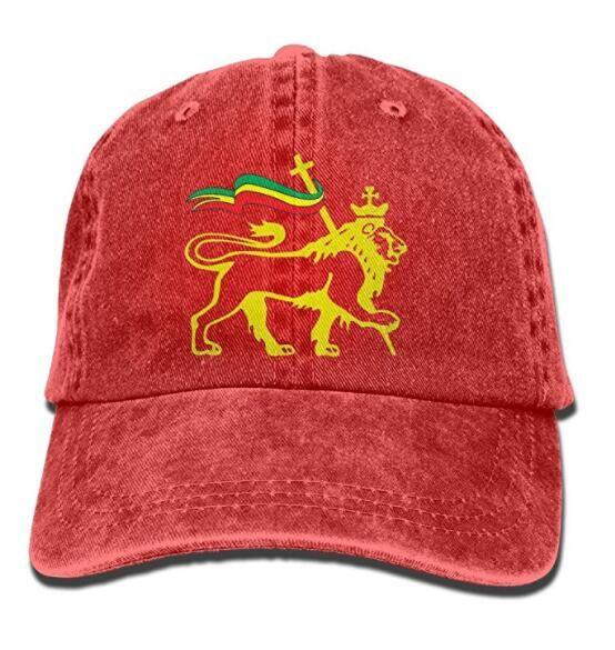 Fashion Vintage Hat Rasta Lion Adjustable Dad Hat Baseball Cowboy Cap