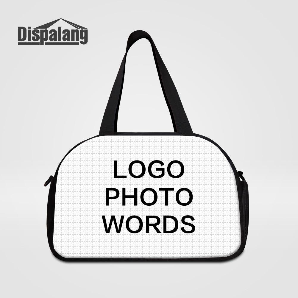 Customize Your Own Brand Logo Photo Travel Duffle Bags For Teenagers Women Men Fashion Outdoor Weekend Overnight Bag Handbag Children Duffel