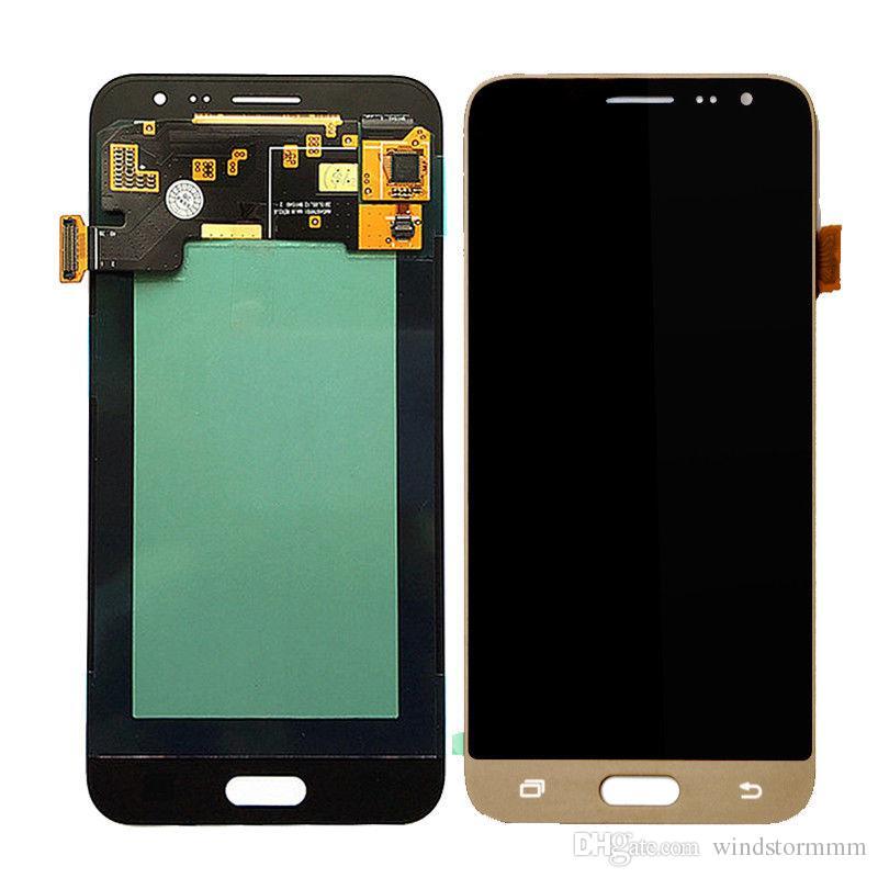 Probado pantalla LCD para Samsung Galaxy J300 J3 2015 pantalla LCD con herramientas Brillo no es ajustable. Ensamblado libre de DHL