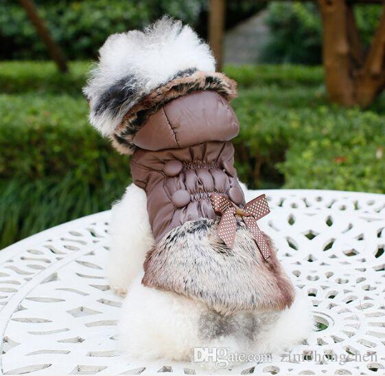 El más reciente grande caliente de la capa ropa del gato Perros Se admiten ApparelPuppy camisa de perro Abrigo de invierno MANTEAU Pour Petit Chien chaqueta con capucha