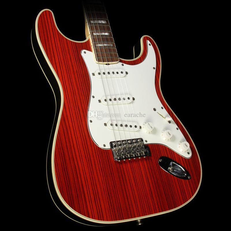 맞춤 상점 한정판 Masterbuilt John 영어 1968 Double Bound Zebrawood St 일렉트릭 기타 (블록 인레이 포함)
