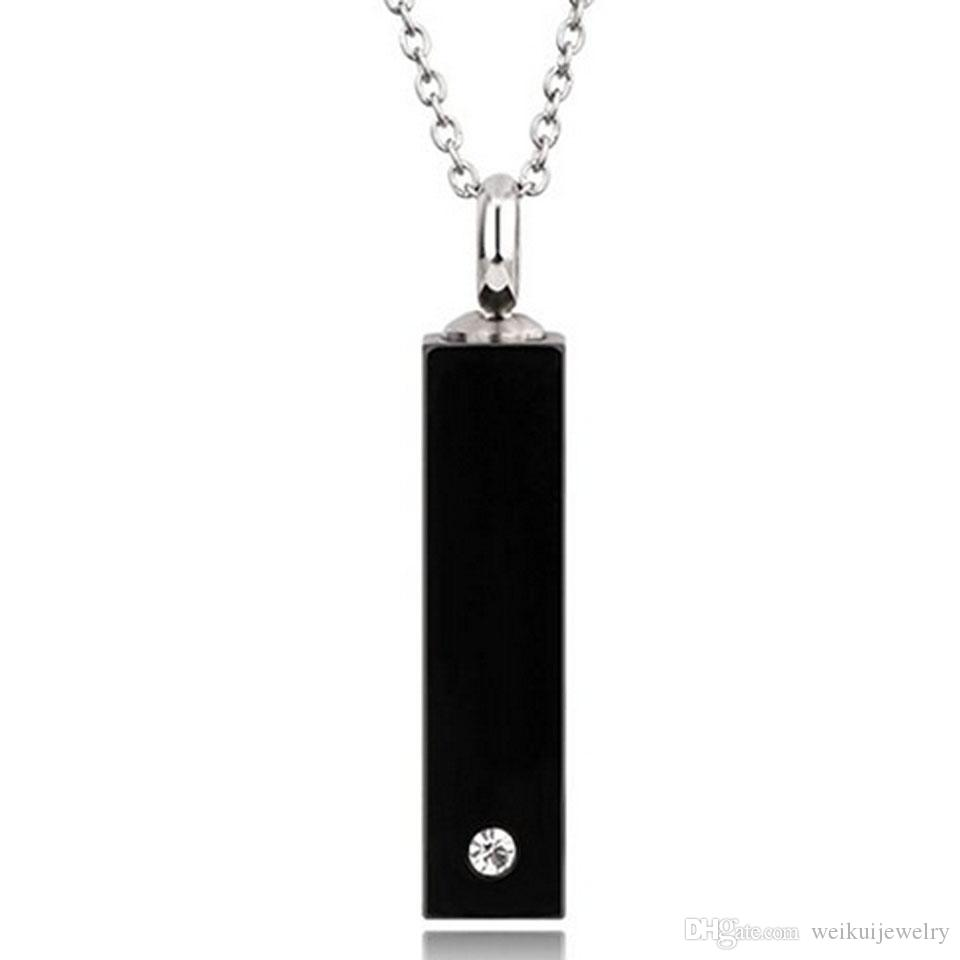 Stainless Steel Cremation Jewelry Keepsake Memorial Ashes Urn Pendant Necklace
