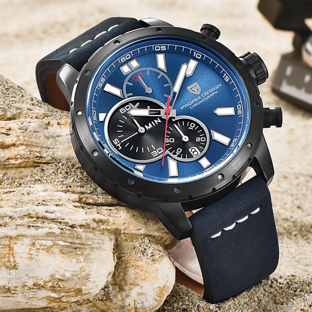 Watches Men True six-pin Chronograph Sports Watches Brand PAGANI DESIGN Luxury Quartz Watch Reloj Hombre Relogio Masculino
