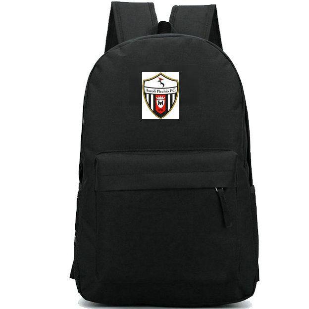 Ascoli Calcio 1898 Sırt çantası Futbol kulübün okul çantası Futbol takım sırt çantası Spor okul çantası Açık gün paketi sırt çantası