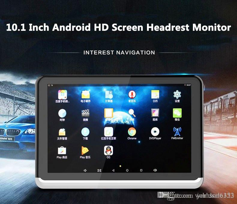 New Android 6.0 Car DVD Headrest Monitor Player 10.1 Inch HD 1080P Video With WIFI/HDMI/USB/SD/Bluetooth/FM Transmitter