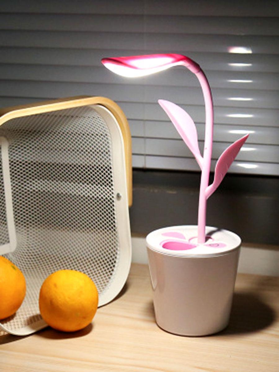 Saksı LED masa lambası kablosuz göz bakımı şarj edilebilir USB 3 seviyeleri led lamba okuma ışığı yaratıcı yatak odası nightlight