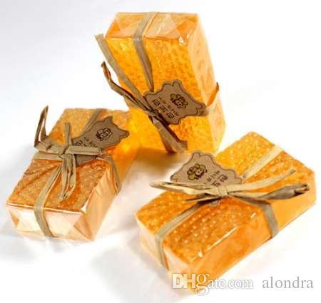 100٪ اليدوية تبييض تقشير الجلوتاثيون أربوتين العسل كوجيك حمض الصابون 90G F76