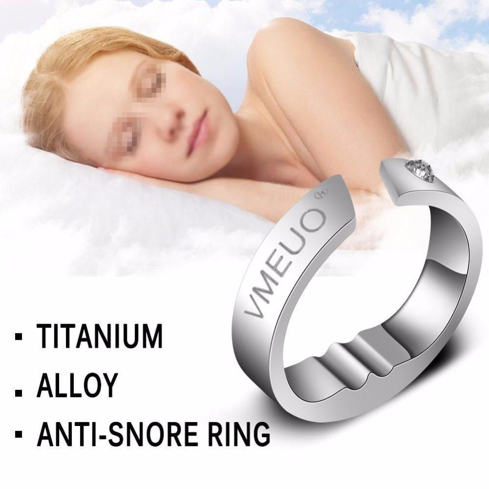 1 pcs Anti Snoring Ring Stopper Sleeping Breath Aid Acupressure Treatment Stop Snore Device Health Care Finger Jewelry Ring Y1891205