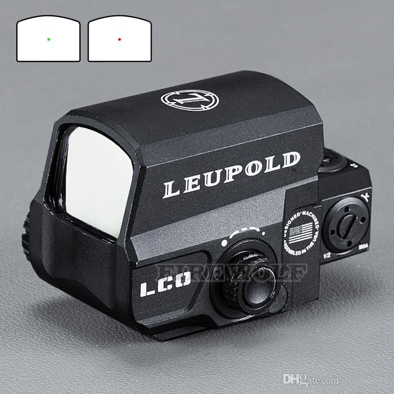 LEUPOLD LCO Модернизированного Red Dot Sight прицелы голографический Tactical Прицел Подходит для всех 20мм рейки Airsoft Gun