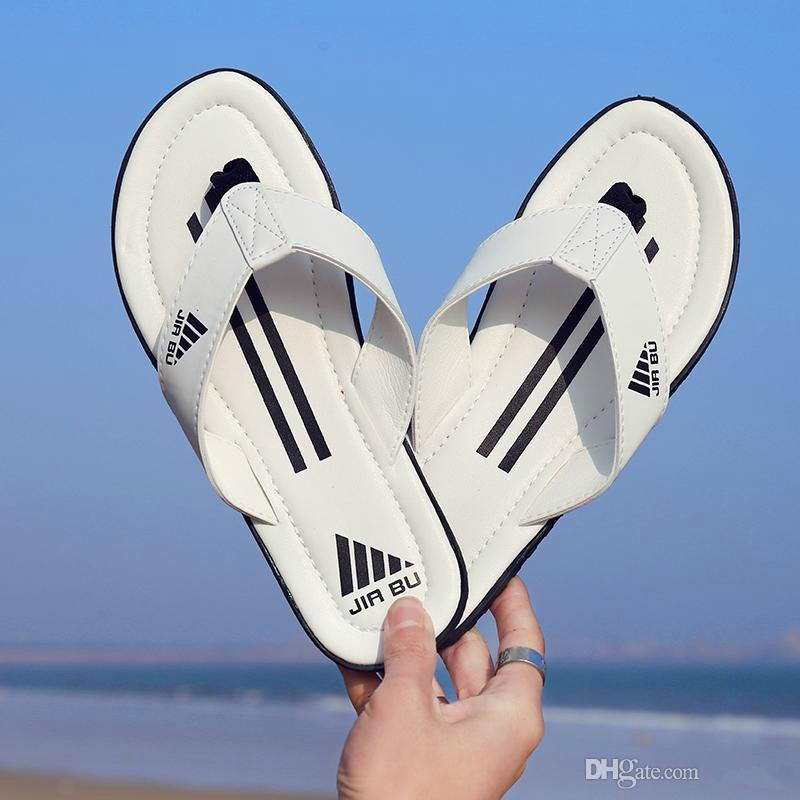 Pantoufles de designer en cuir de qualité supérieure pour l'été Pantoufles confortables Garçon Mélange de couleurs Rayures Tongs d'intérieur Baskets de plage en plein air Sandales