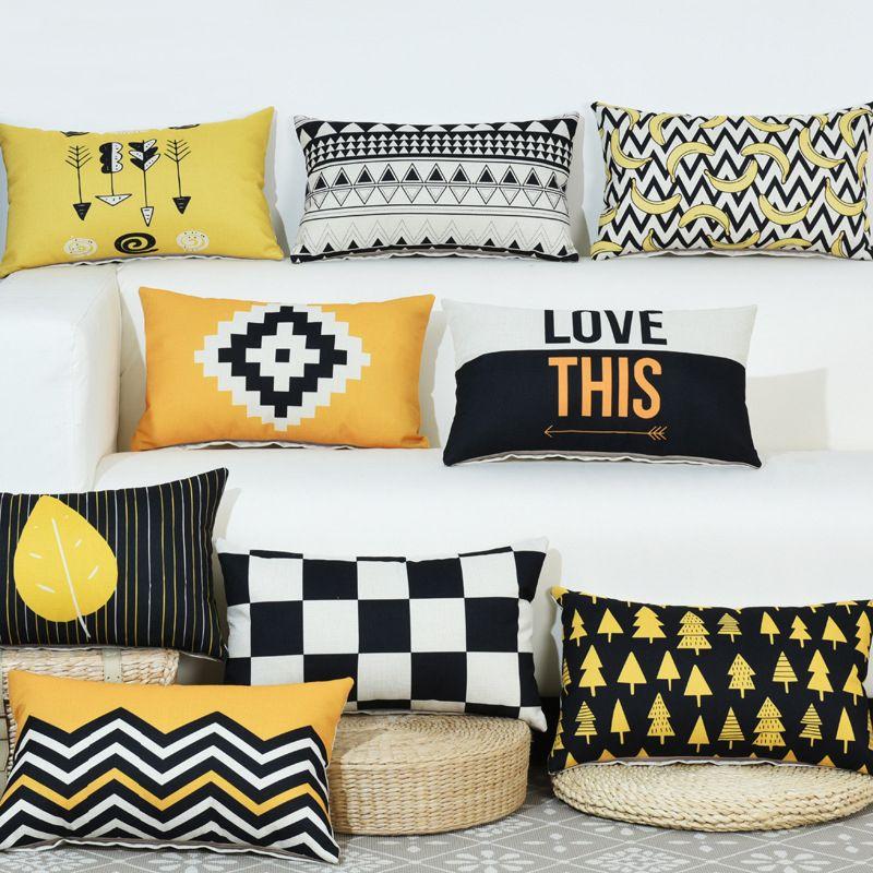 "12"" x 20"" Pillow Sham Lint rettangolo zip federe 29 Stile coperta Cuscino Outdoor Divano Vita Covers BH18096"