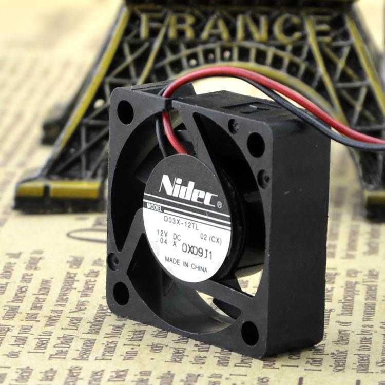 Для NIDEC D03X-12TL 12 В 0.04A двухлинейный ноутбук 3010 3CM тихий вентилятор жесткого диска