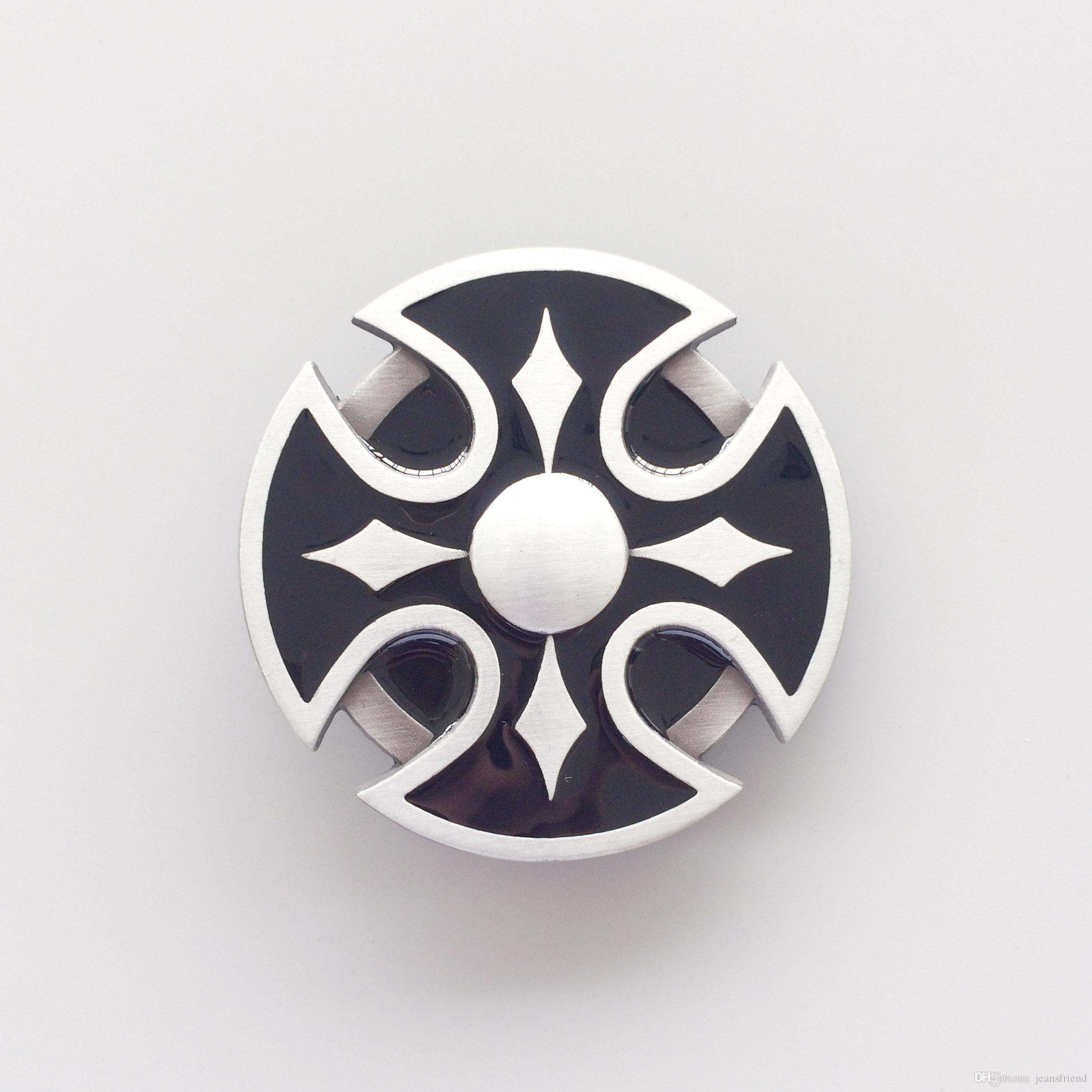 Del nuevo esmalte céltica redonda de la vendimia la hebilla del cinturón Gürtelschnalle Boucle de ceinture