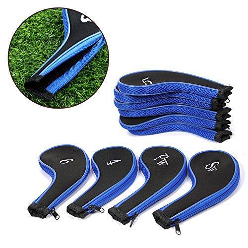 Free Shipping 10 pcs/set Golf Club Iron Putter Head Cover Protect Set HeadCovers Zipper design