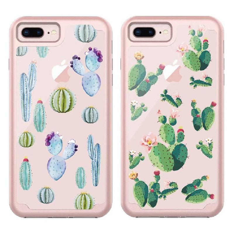 For Iphone XS XR Case 2in1 Soft Cartoon TPU material and Soft Poly Carbonate Light oil For Iphone XS MAX