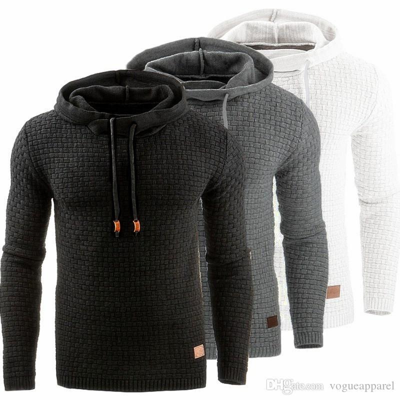 Мужская дизайнер толстовка черный серый белый передний карман пуловер плюс размер 3XL 4XL толстовки Бесплатная доставка