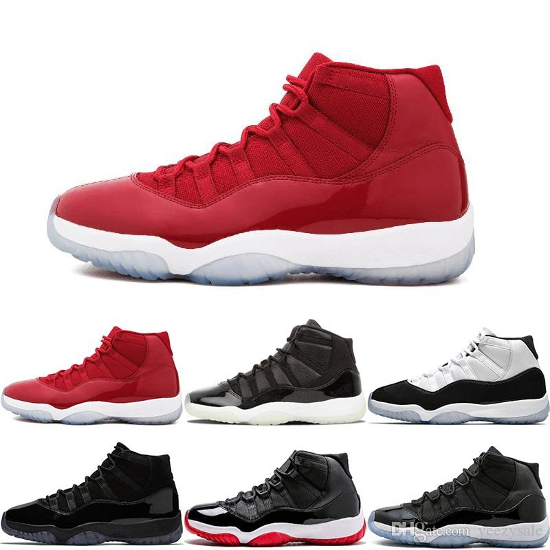 Top 11S Prom Night Mens 11 Basketball Shoes Easter Gym Red Midnight Navy PRM Heiress Barons Closing Concord Bred Ceremony Men Sport Sneakers