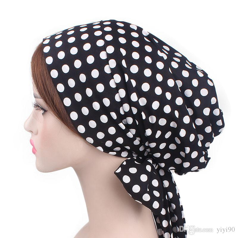 Silk Bonnet Sleep Cap Bow Headwear Bandana Hair Cover Bow Tie Chemo Hat Beanie Turban Headwear for Women Curly Hairwarp