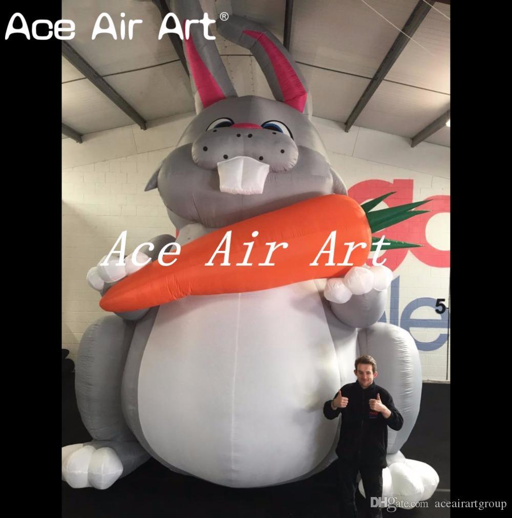 coelho de coelho de assento inflável gigante da Páscoa 20ft que guardara uma cenoura para anunciar