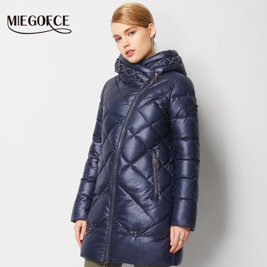 Toptan-Kış Gömme Kadınlar Coat Ceket Sıcak Kadın Parka Yüksek Kalite Kış Palto Hood Sıcak Satış MIEGOFCE 2016 Yeni Kış