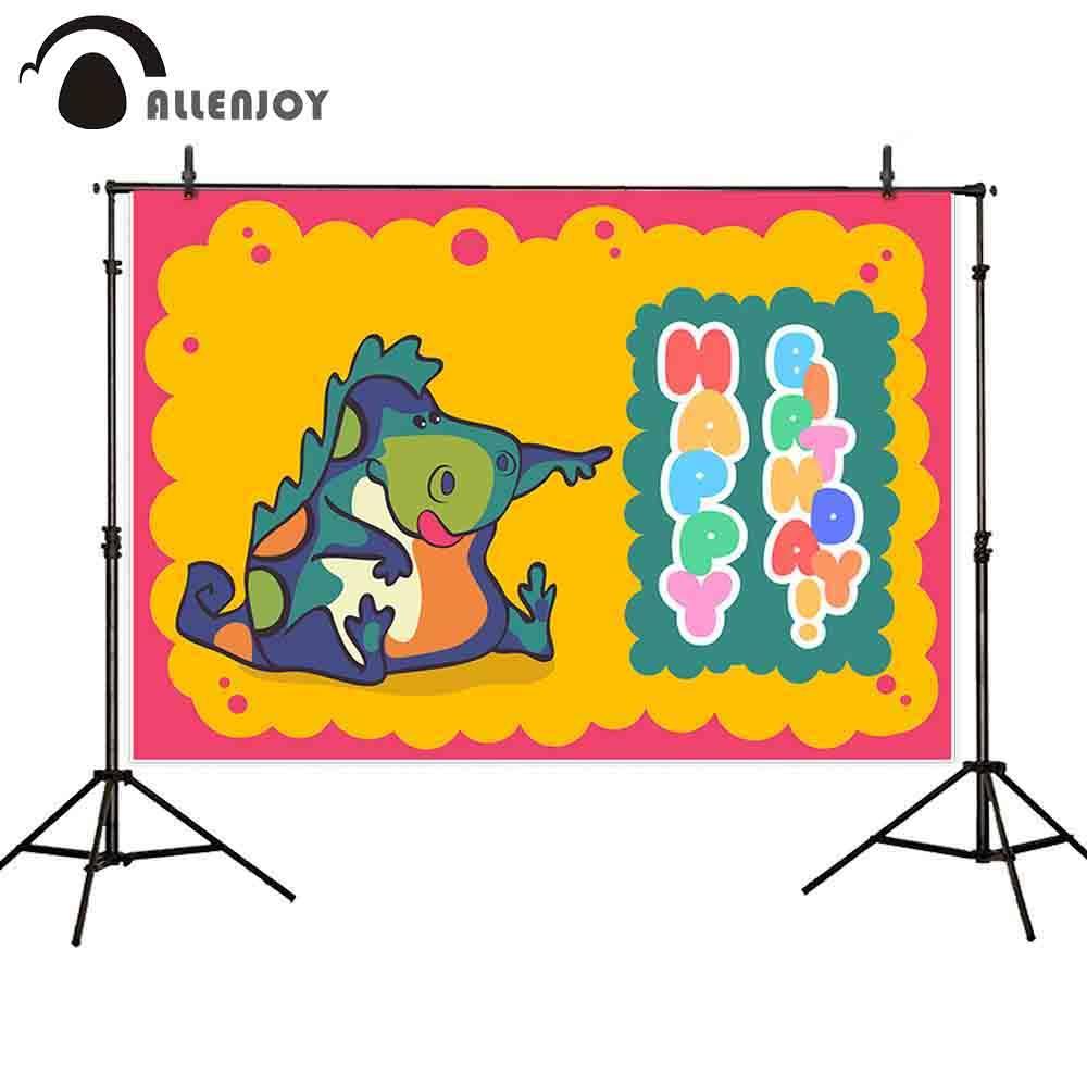الجملة خلفية الفوتوغرافية الأطفال الأصفر مضحك لطيف ديناصور حزب الكرتون عيد إطار مخصص صورة خلفية صورة المتصل