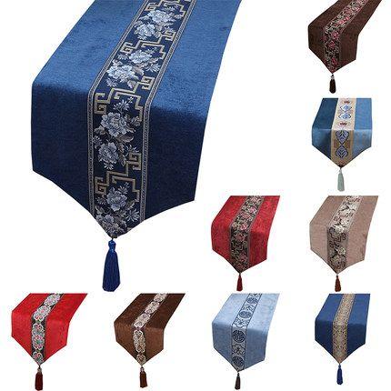 Courte Longue Patchwork Dentelle velours de Table Table basse chinoise Tissu napperon rectangulaire décoratif haut de gamme Table Mat 150x33 cm