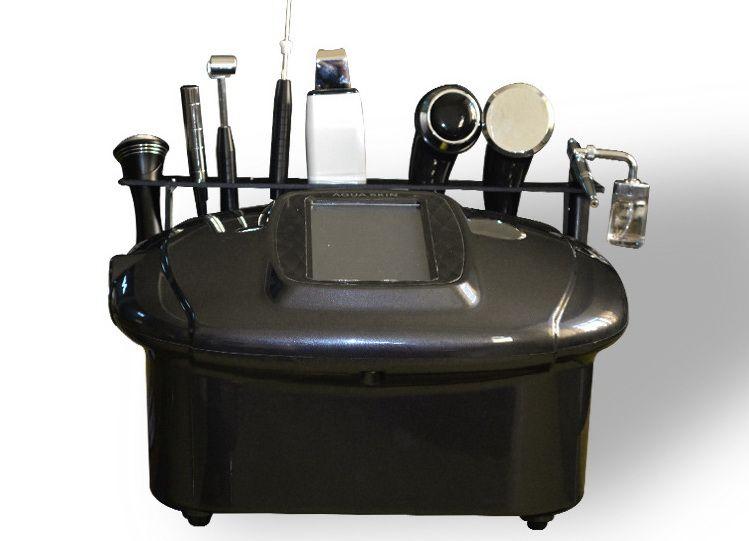 8 In 1 Beauty Equipment Ultrasonic Galvanic Scrubber BIO Cold Hot Hammer Oxygen Spray Touch Screen