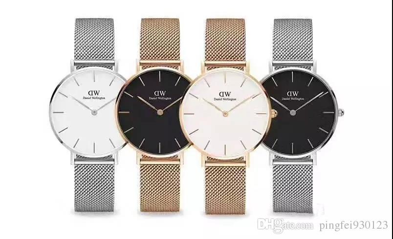 Mais vendidos!! Amantes de quartzo relógio de pulso desgaste dos homens malha de aço inoxidável relógio fino de negócios de ouro moda esportiva ao ar livre assista