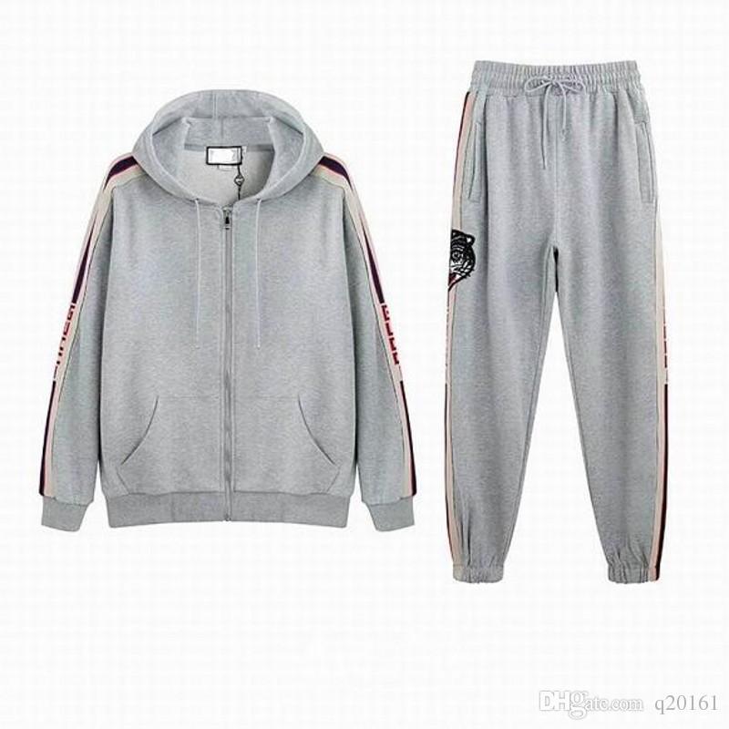 Mode homme Vêtements de sport à capuche et sweat-shirts Automne Hiver Jogger Costume Hommes en plein air Survêtements Set Livraison gratuite