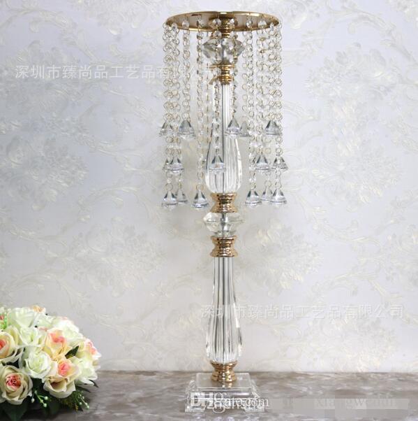 Road Road LED Crystal Bead Cortina Acrílico Flower Stand Soporte de la boda Props To STAND Decorative Prop La carretera LED Artículos de mobiliario