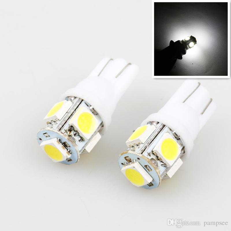 2 UNIDS Led Coche DC 12 v Lampada Luz T10 5050 Super White 194 168 w5w T10 Led Bombilla de Estacionamiento Auto Wedge Liquidación lámpara