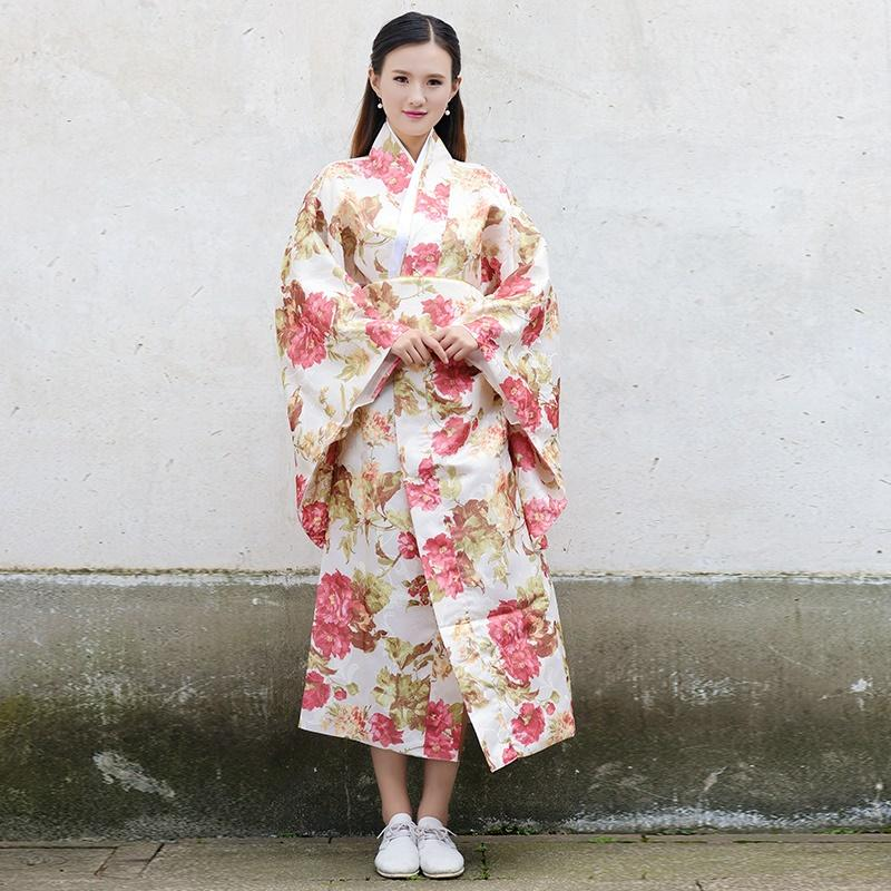 Japanisches Kimonotrachtenkleid cosplay weibliches yukata Frauen Haori Japan-Geishakostüm obi Kimonosfrau 2018 TA508