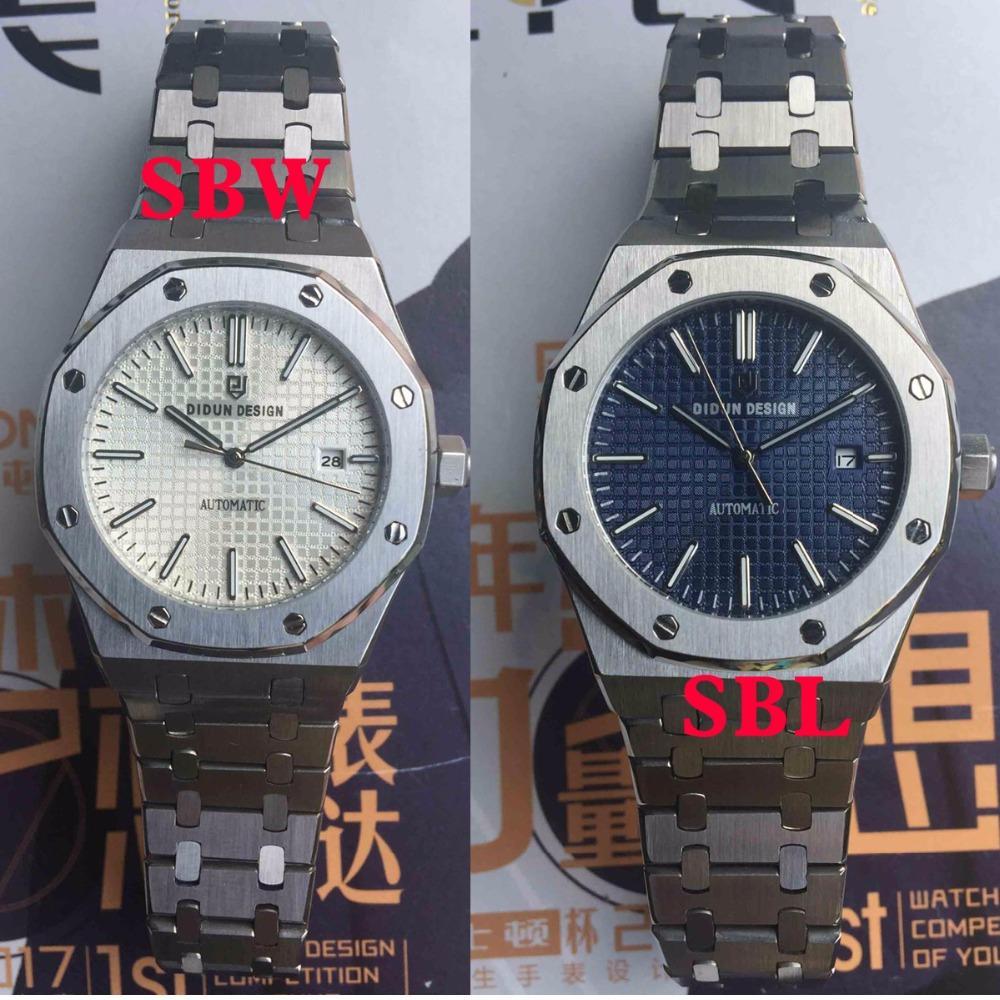 DIDUN Uhr-Mann-Top-automatische mechanische Uhr Geschäft Einfache Mal Armbanduhr Wasserdicht 30m