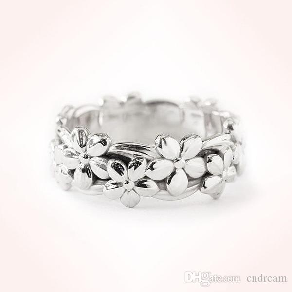 Stereoscopic Flower Ring Band finger rose gold rings for Women Fashion Jewelry Gift Will and Sandy