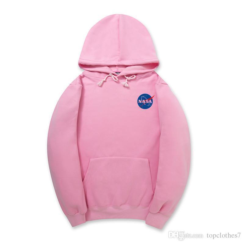 Мода весна осень НАСА балахон уличная хип-хоп с капюшоном толстовка Мужские толстовки кофты 12 цвет плюс размер S-XXL