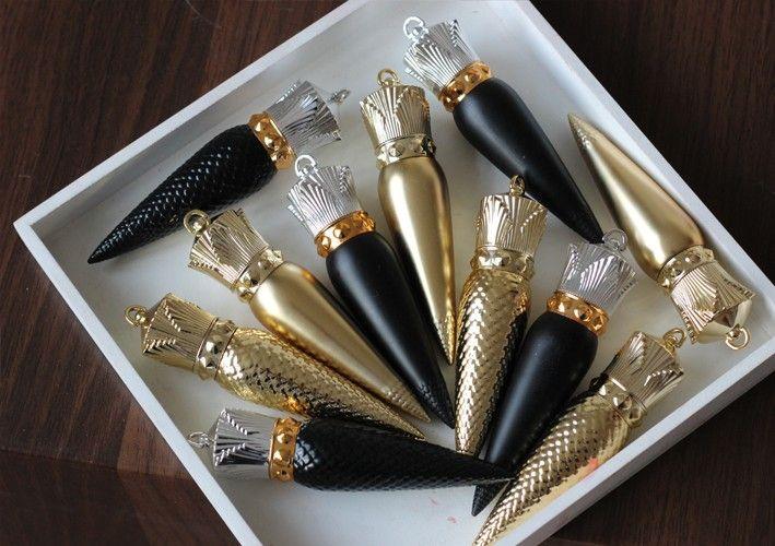 12.1mm Siyah ve Altın Lipstic Dudak Tüp Boş Yüksek Kaliteli Plastik Ruj Tüp Ruj Parlak Konteyner