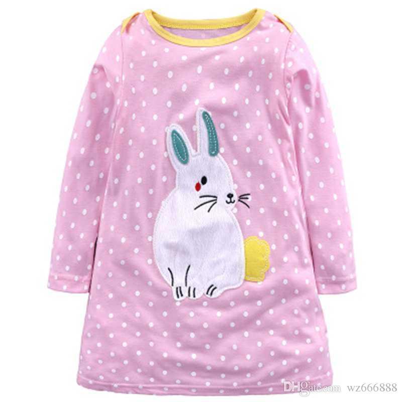 Kız Elbise Elbise Robe Fille Enfant 2018 Marka Pamuk Çocuk Kostümleri Hayvan Baskı Prenses Doğum Günü Elbise Çocuk